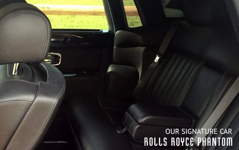 The back seat of our Rolls Royce Phantom